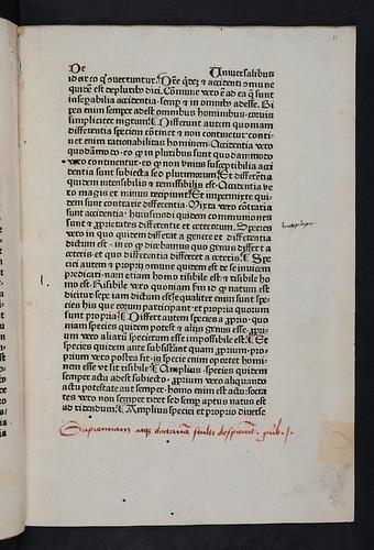 Manuscript inscription in Aristoteles: Opera [Latin]