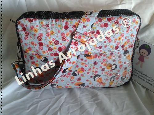 Frente do saco para pc by Linhas Arrojadas Atelier de Costura ® Trademark