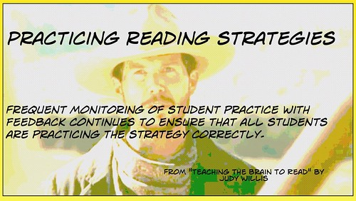 Practicing reading strategies