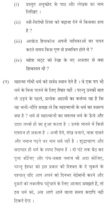 DU SOL B.A. Programme Question Paper - Hindi C - Paper IX