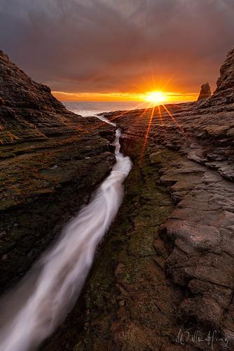 ocean sunset santacruz seascape beach nature pacific scenic crack davenport hwy1 davenportbeach davenportcrack