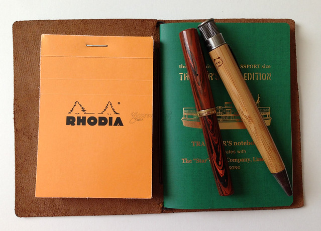 Midori Star TN With Rhodia And  Pens