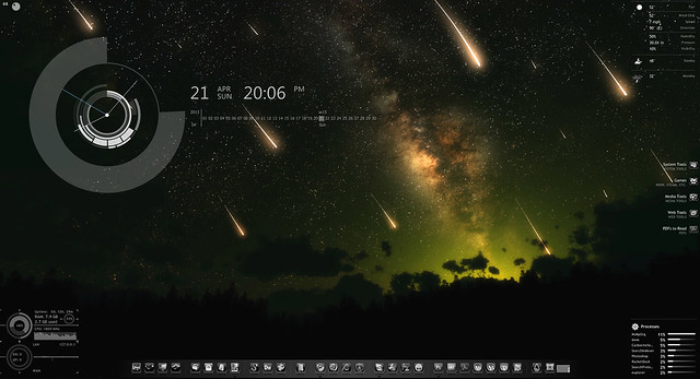 My first Rainmeter desktop