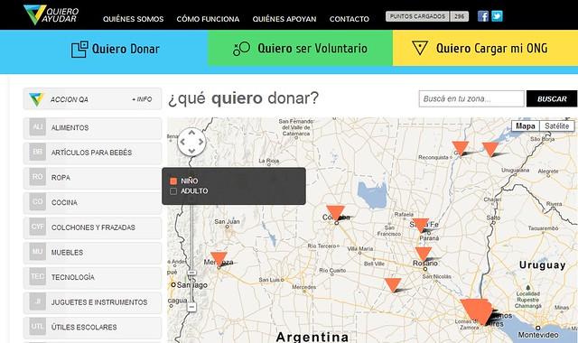 Quiero Ayudar Map
