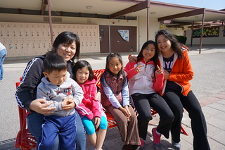 from left: Margaret with her kids, Caleb (3) & Sophia (6); Catherine with her girls, Erika (6) & Andrea (11)