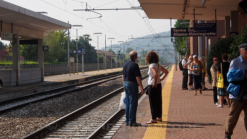 Terme Euganee-Abano-Montegrotto駅の様子