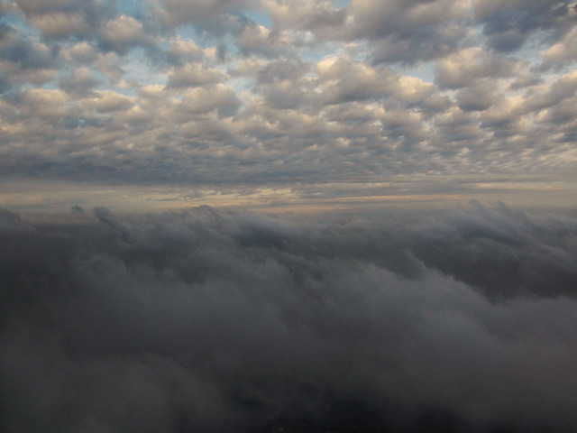 Aerial - clouds (return from AR; April 2, 2013)