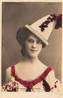 a woman wearing a funny hat