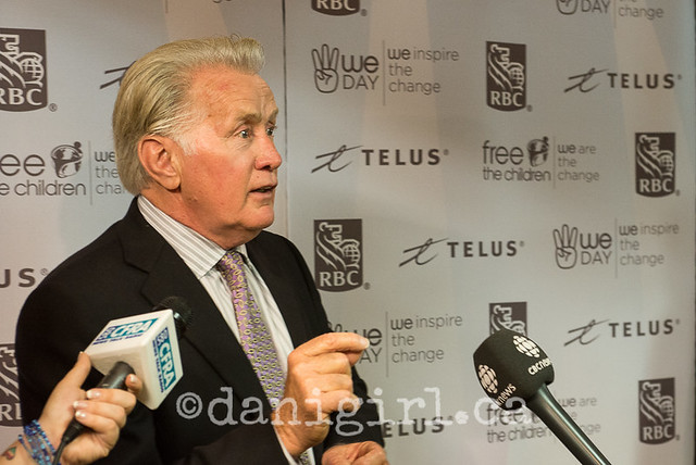 National We Day in Ottawa - Martin Sheen