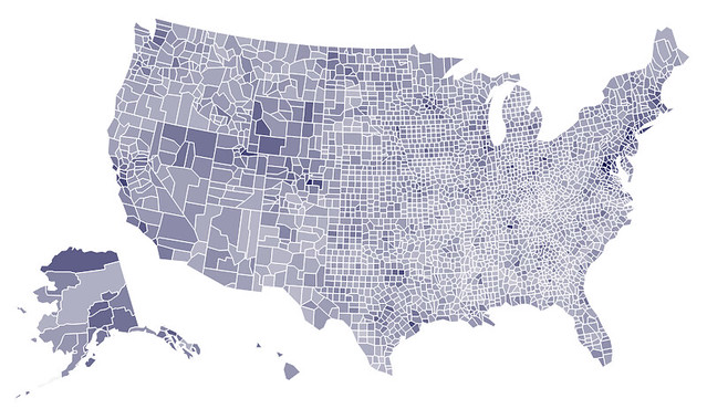 Simple Thematic Mapping Of Shapefile Using Python Geographic - Map of the us gis r choropleth