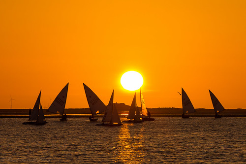 West Kirby sailing boats at sunset