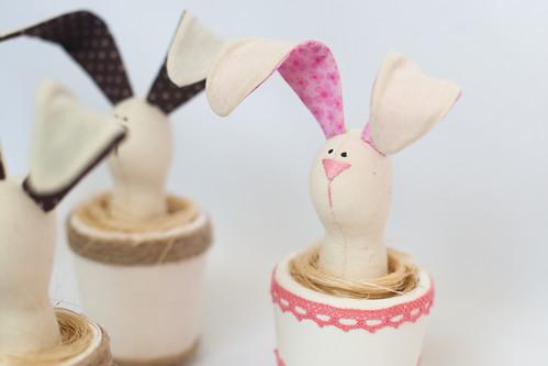Кролики в горшочках