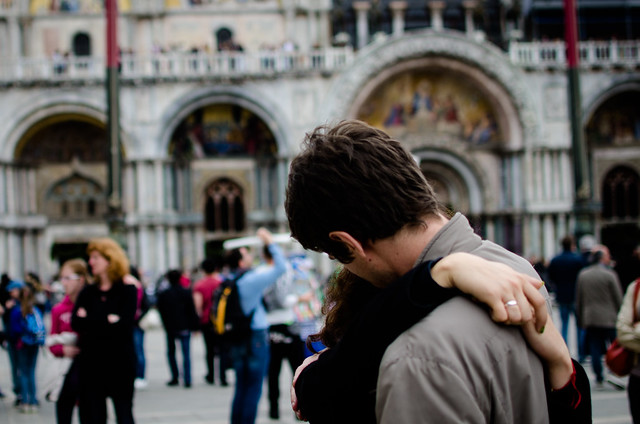 Love is in the air at Venice's St. Mark's Square