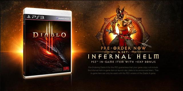Diablo III Pre-orders on Playstation 3 Comes with Bonus Infernal Helm