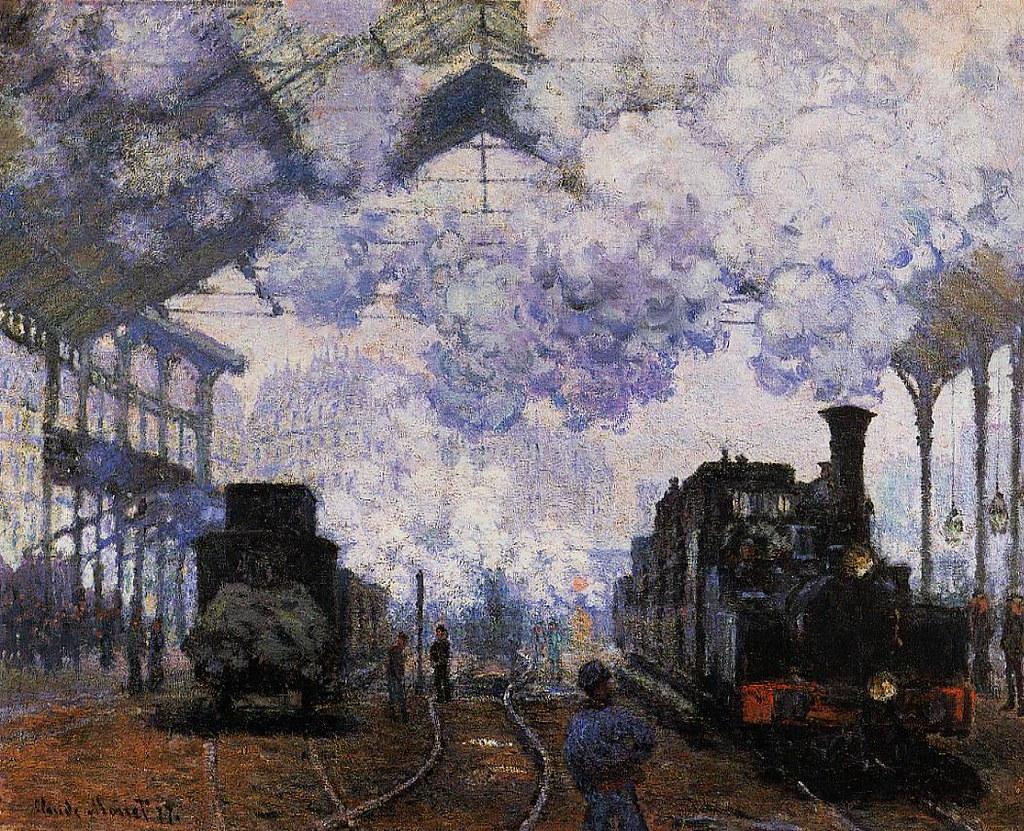 La llegada del tren. Óleo sobre lienzo. Claude Monet, 1877