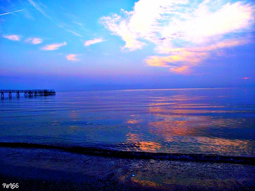 sea water clouds sunrise nuvole mare alba blu rimini acqua lorisphoto