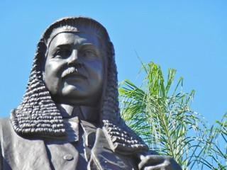Image of  Thomas Joseph Ryan. statue brisbane moustache wig judge law cbd thomasjosephryan