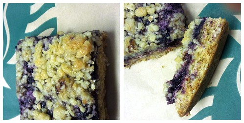 Actual Starbucks Blueberry Oat Bar