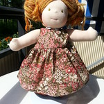 "Floral Cotton Dress for 15"" Dolls by Catarina Yarn Craft"