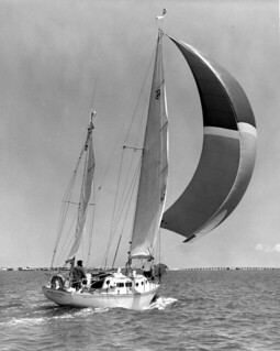 Architect Peter Trouchaud sailing in Sarasota Bay