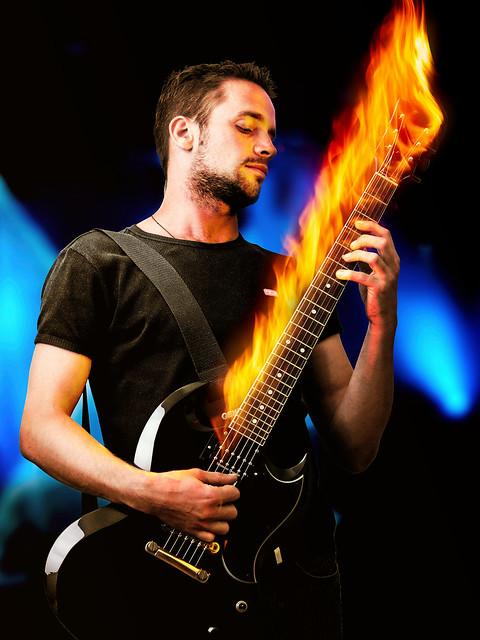 Photo:Flaming Guitar By Yuri Samoilov Photo
