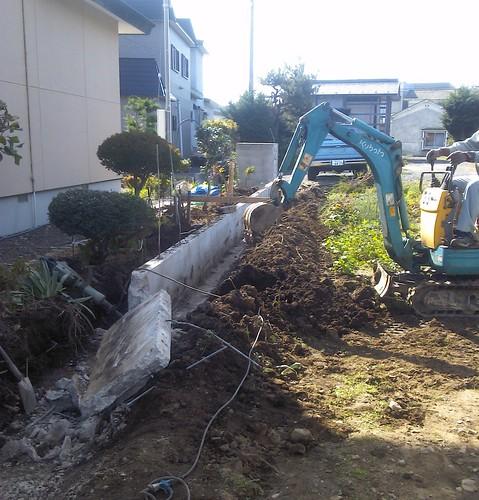 平川市松館のブロック塀改築工事(弘前市のブロック塀工事は建匠おだぎりへ)