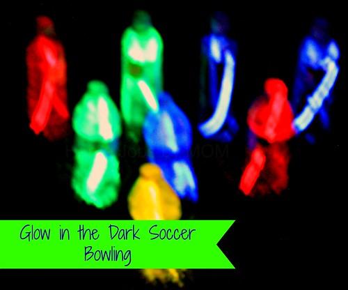 glow stick soccer bowling
