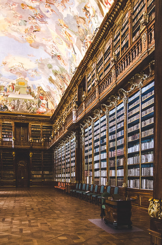 The grand Philosophical Hall at the Strahov Monastery