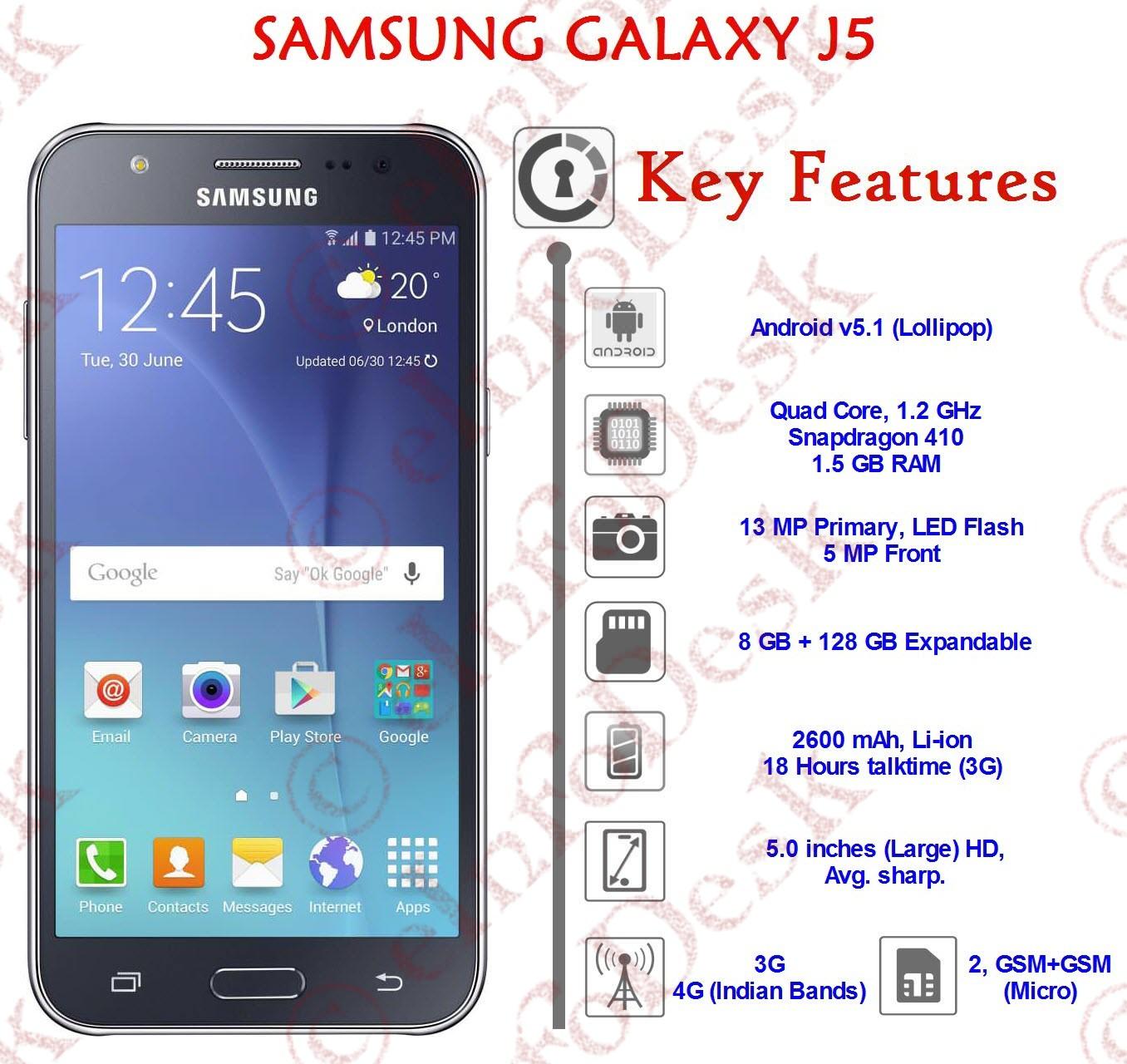 Samsung Galaxy J5 Einfodesk