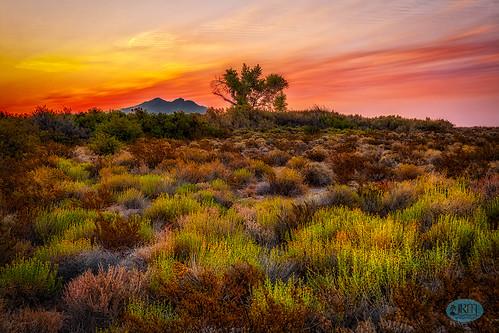 corncreek hdr sunrise lasvegas desert