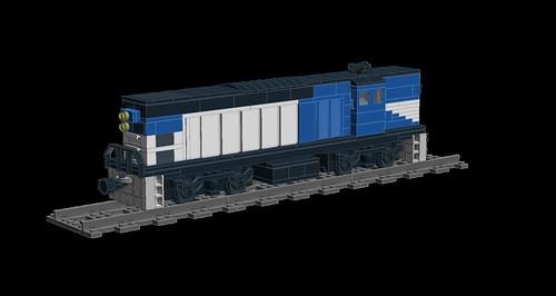 LDD MOC Queensland Rail 1400/1450 Class 8602274126_191ba93fa9