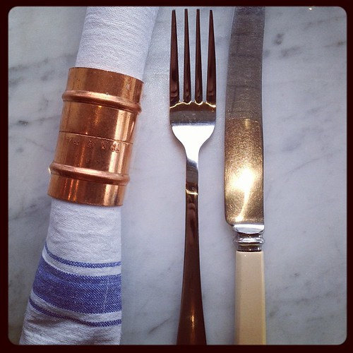Love the decor of @electriccork's new Fish Bar. #Copper #napkin ring, anyone?