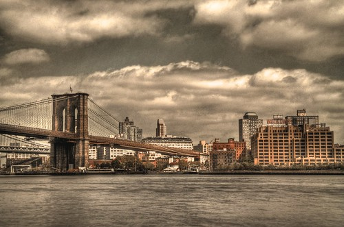 Brooklyn Bridge Monotone