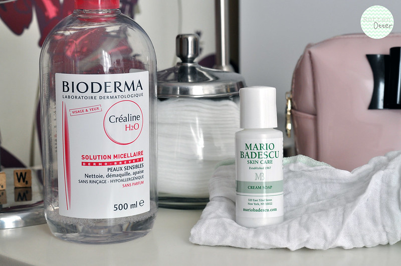 current face skin care routine cleanser make up remover bioderma mario badescu cream soap rottenotter rotten otter blog