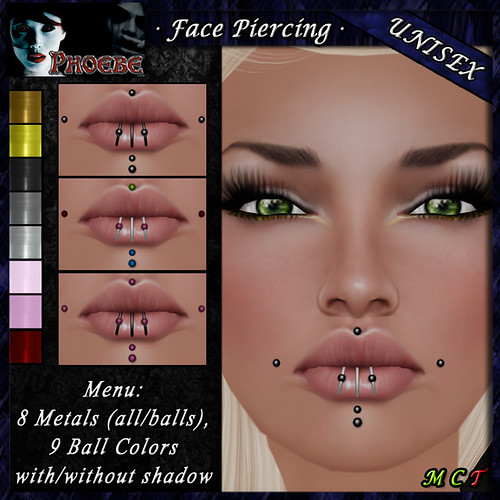 *P* Unisex Face Piercing M4 ~8 Metals-9 Colors~