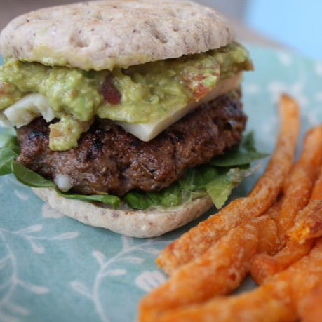 Tex-Mex Burger with Black Bean Guac