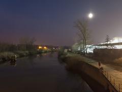 Blue hour at the Dender
