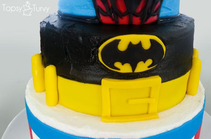 Superhero Birthday Cake | Ashlee Marie - real fun with real food