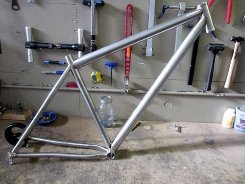 Don's titanium 29er just about done