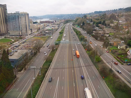 Interstate 5 from the Portland Aerial Tram