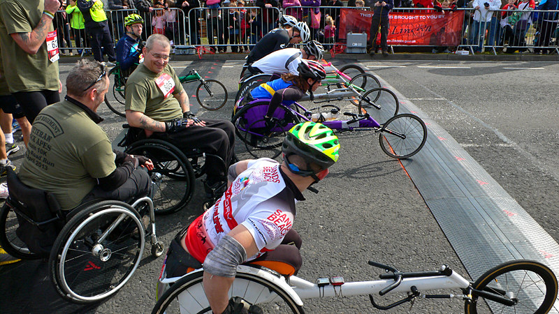Lincoln 10k Race - Wheelchair Start Line