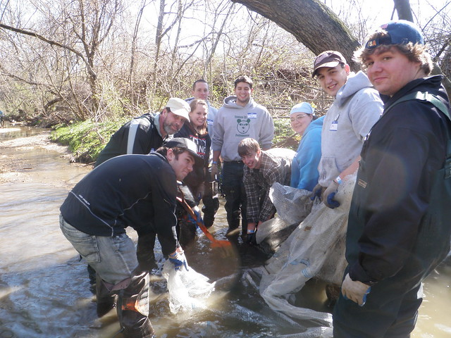 During the Bread and Cheese Creek Cleanup Merritt Boulevard to North Point Boulevard 4/6/13.