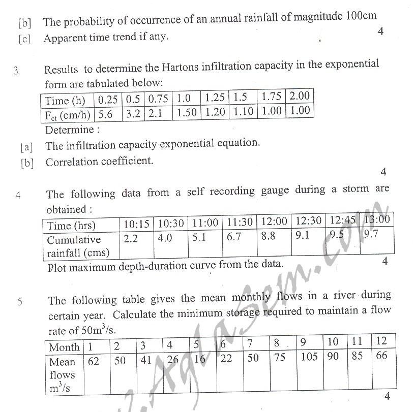 DTU Question Papers 2010 – 5 Semester - Mid Sem - CE-303