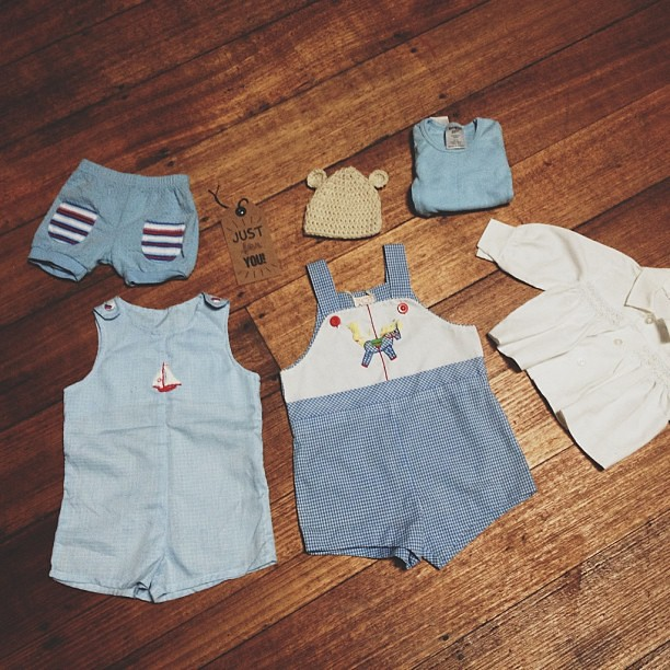 Ridiculously cute baby clothes from @lovekatyha. I feel so very spoiled. Thank you lady! Just what I needed on a no good day. Adorable!