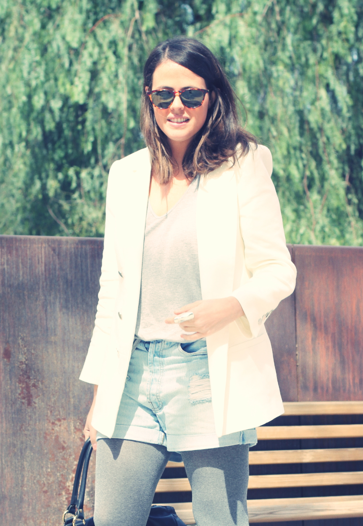 Look white blazer + new balance - Monicositas