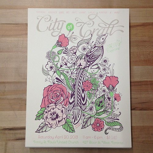 Spring posters! Design by @kirstenmccrea. Screen printed in Kensington Market by @kidicarus_store.