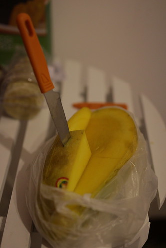 Mango and a fruit knife from Wallmart