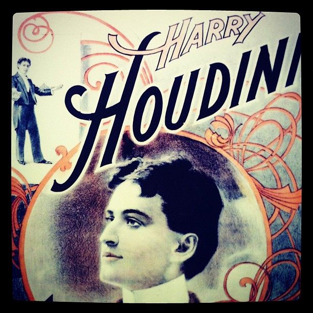 Harry #Houdini poster with sweet #typography. #visitfoxwi