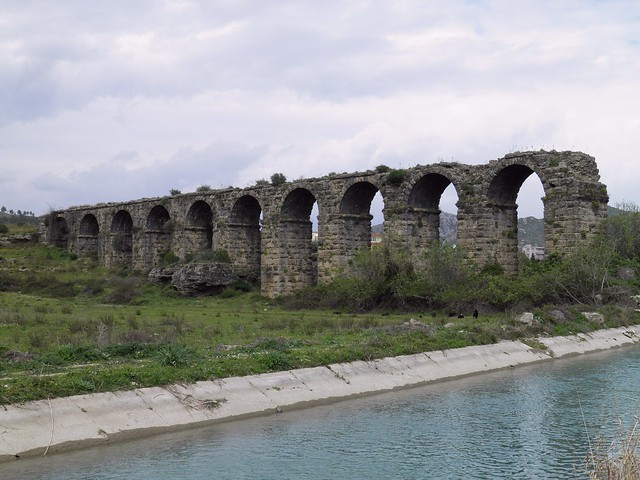 Aspendos aqueduct, probably built in the second half of the third century, Turkey