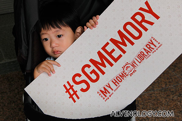 Asher doing his part for #sgmemory